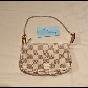 Louis Vuitton Mini Pochette in Damier Azur